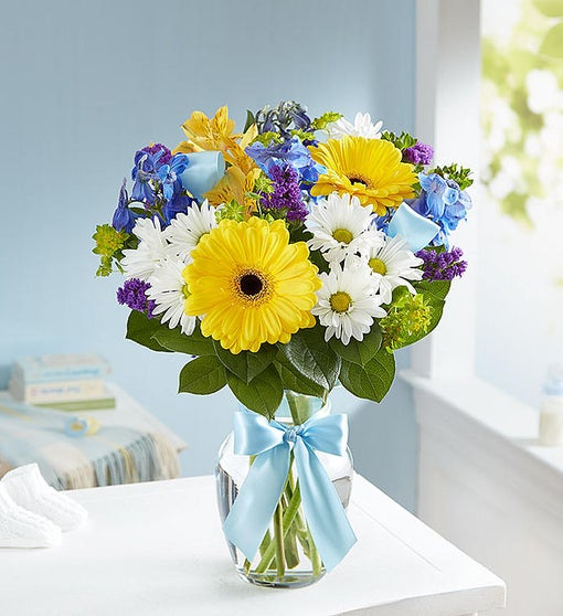 Sweet With Blue And Yellow Xaviers Florist Somerset
