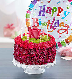 Astonishing Birthday Surprise Cake With Balloon Flowers From The Heart Personalised Birthday Cards Beptaeletsinfo
