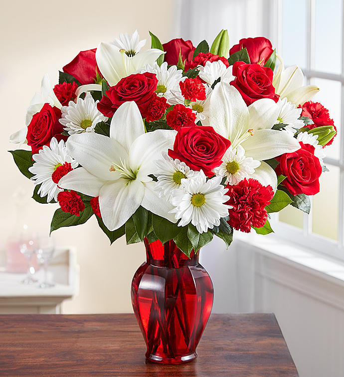 Red & White Delight - Creative Floral Designs