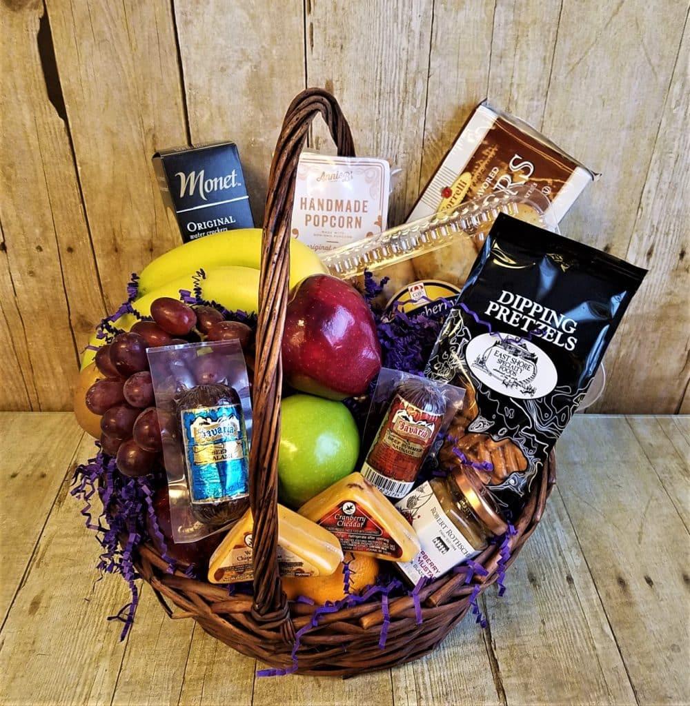Fruit, Gourmet & Sausage Basket - Blue Iris