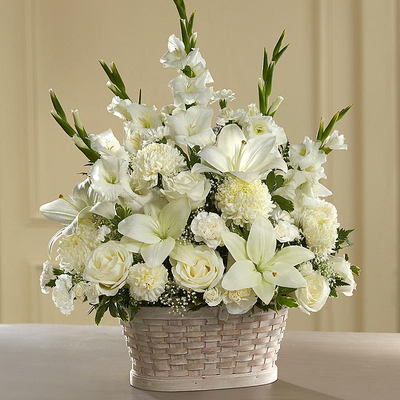 BUY ONLINE SALE ONLY My Peaceful Garden Funeral Flower Arrangement - Roslindale Florist